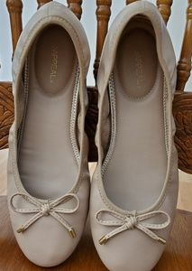 Xappeal Shoes - Xappeal Nude and Gold Ballerina Flats
